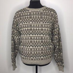 Vintage grandpa style sweater size large